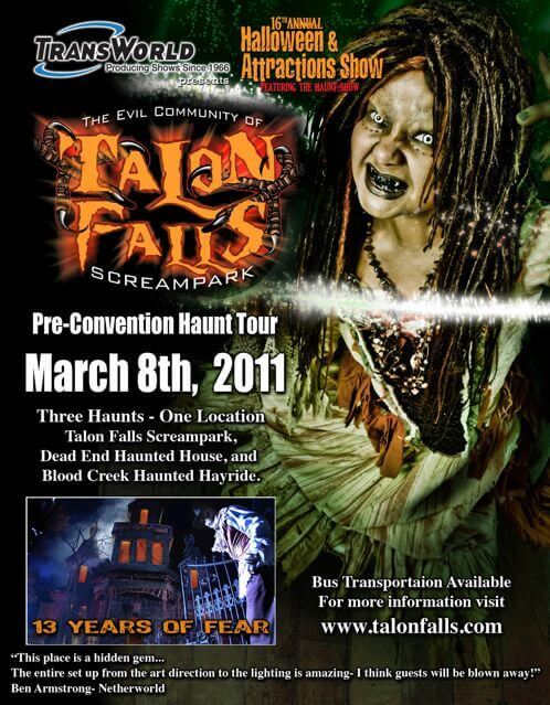 Kentucky Haunted House Talon Falls Pre-Convention