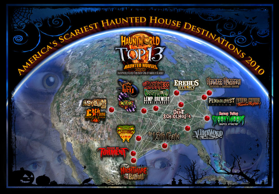 Americas best haunted houses halloween for Americas best homes
