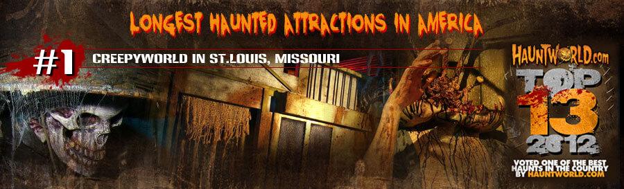 Top Ten LONGEST haunted attractions in America