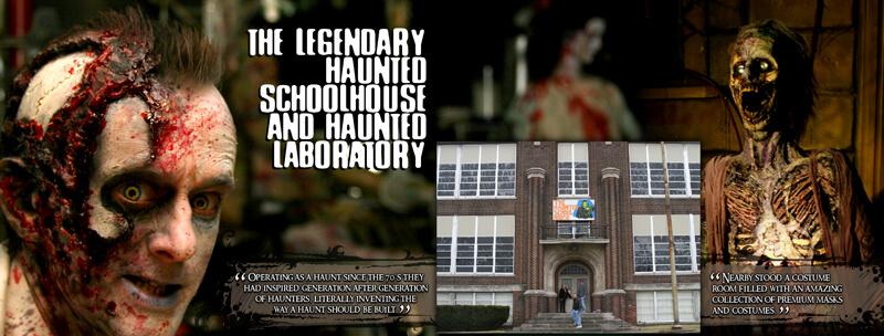 Haunted Schoolhouse and Haunted Laboratory
