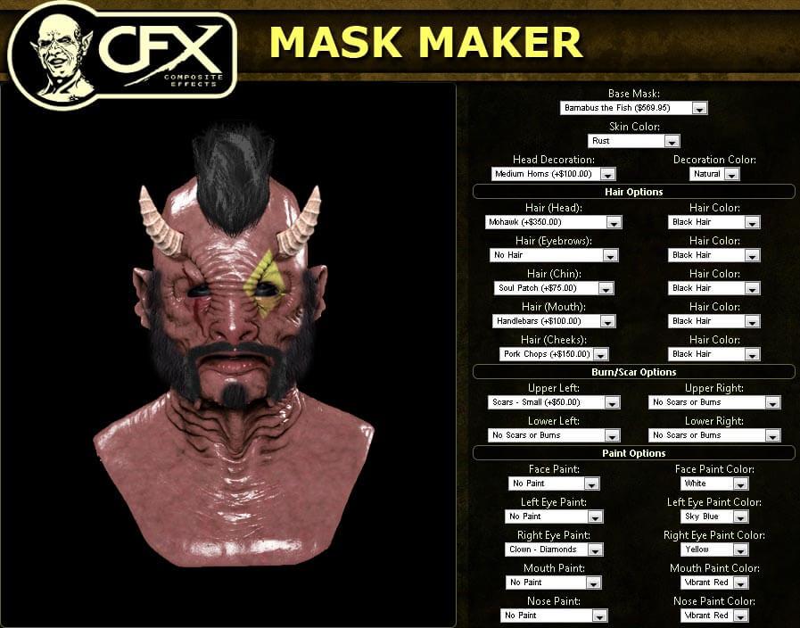 CFX Mask Maker