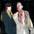 Fright Farm performer and his friend